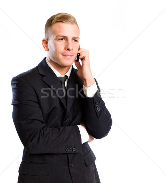Busy on the phone. Stock photo © lithian