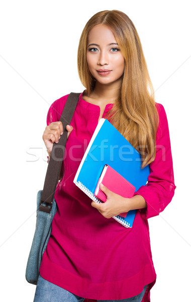 Gorgeous young asian student girl. Stock photo © lithian