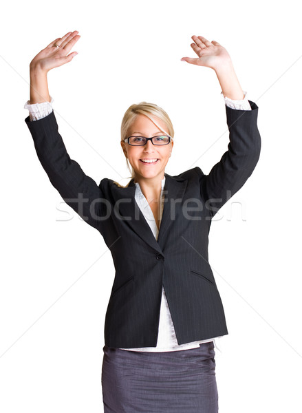 Exuberant young business woman. Stock photo © lithian