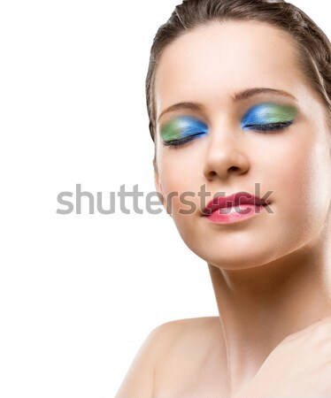 Makeup with amazing colors. Stock photo © lithian