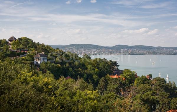 Lac Balaton belle vue ciel mer Photo stock © lithian