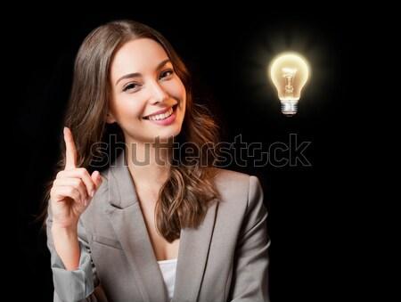 Сток-фото: великолепный · молодые · деловая · женщина