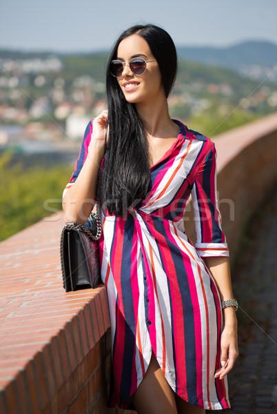Beautiful young tourist. Stock photo © lithian