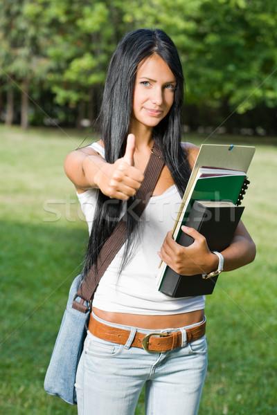 великолепный молодые студент девушки Сток-фото © lithian