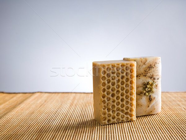 Hand crafted organic soap. Stock photo © lithian