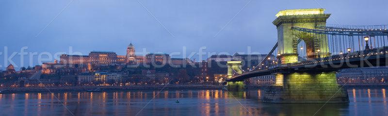 Colorful Chain Bridge. Stock photo © lithian