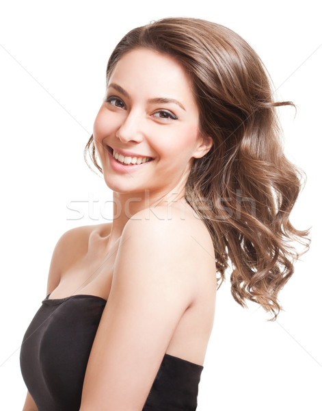 Strong full hair. Stock photo © lithian