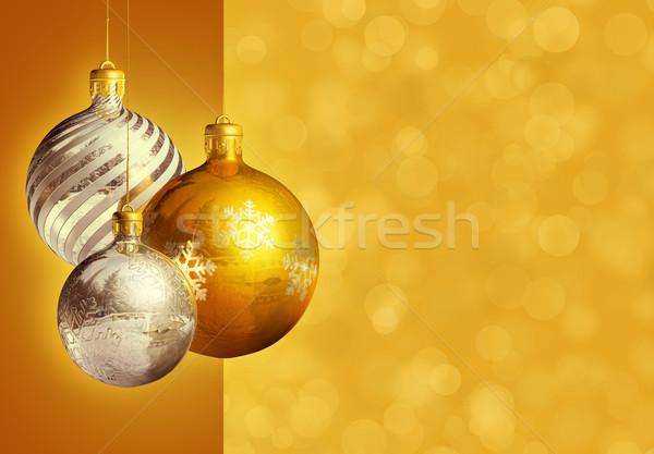 Modern styled elegant christmas decor. Stock photo © lithian