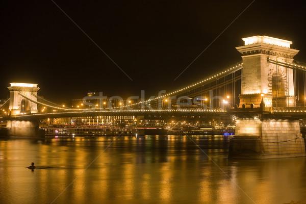 Gloden glow of the Chain Bridge. Stock photo © lithian