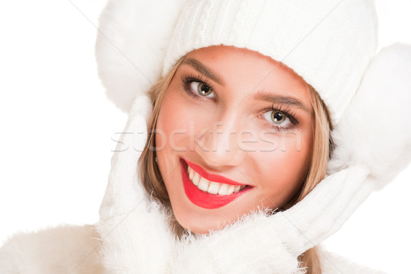 Snow white winter fashion. Stock photo © lithian