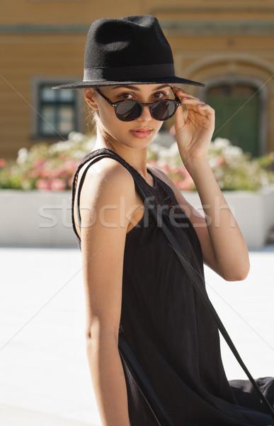 ストックフォト: ブルネット · 夏 · ファッション · 美 · 屋外 · 肖像