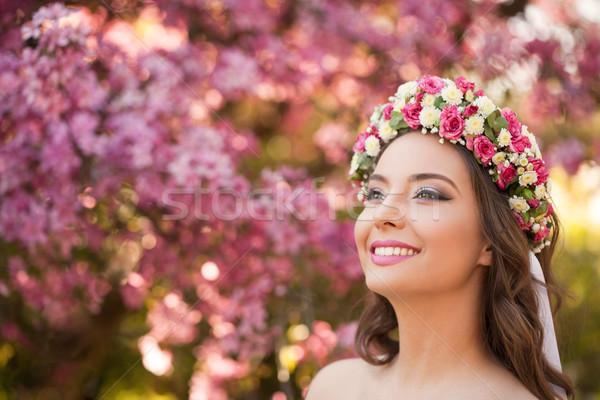 Asombroso naturales primavera belleza aire libre retrato Foto stock © lithian