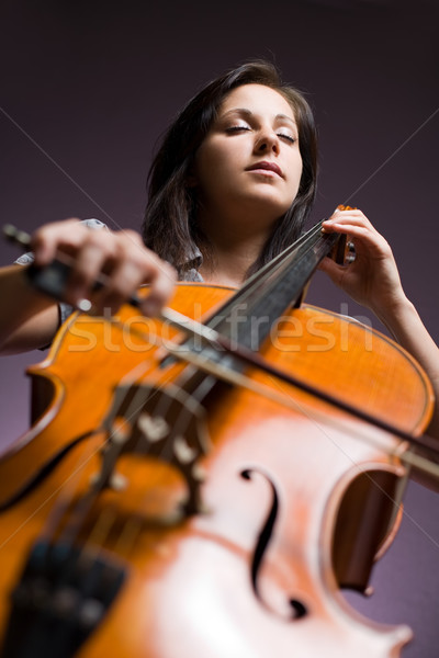 Immersed in classical art. Stock photo © lithian