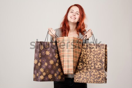 Gorgeous shopper. Stock photo © lithian