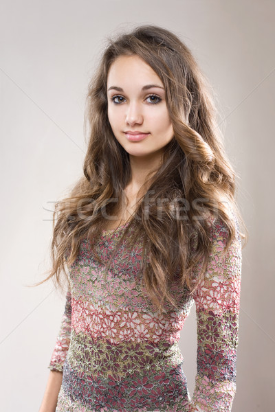 Gorgeous young poser. Stock photo © lithian