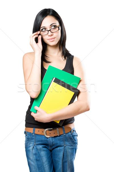 Fun young student girl. Stock photo © lithian
