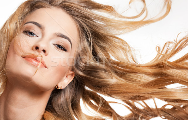 красоту удивительный волос портрет молодые Сток-фото © lithian