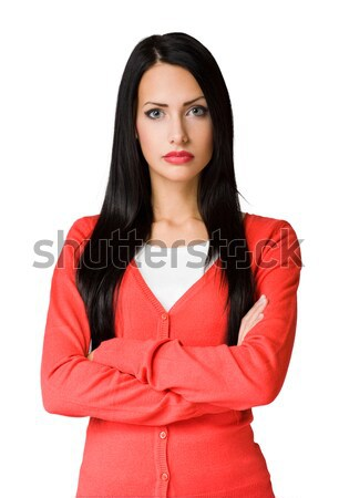 Angry  looking business woman. Stock photo © lithian