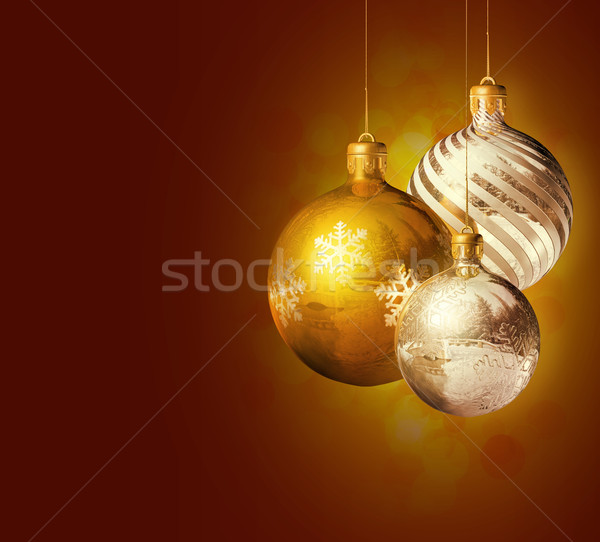 Elegant christmas decor. Stock photo © lithian