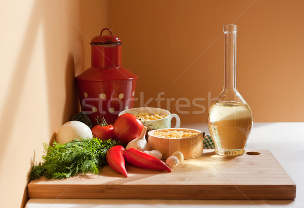 Stock photo: Fresh healthy ingredients.
