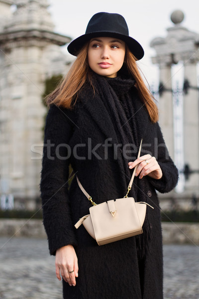 Winter fashion beauty. Stock photo © lithian