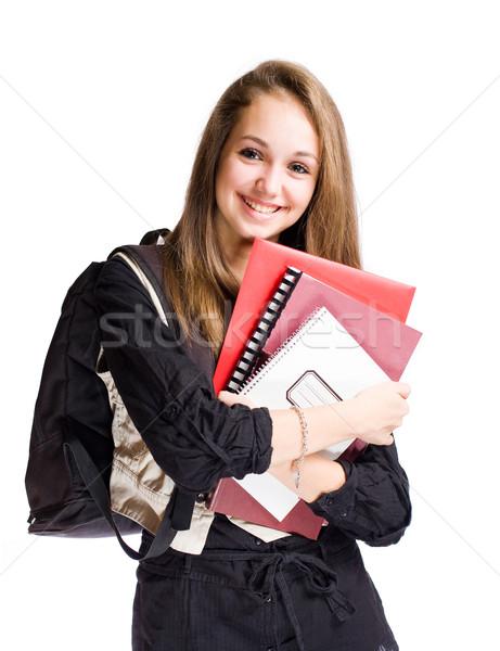 Happy student girl Stock photo © lithian
