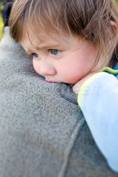 On daddy's shoulder. Stock photo © lithian