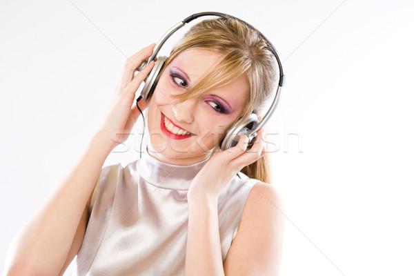 серебро поп девушки красивой молодые Сток-фото © lithian