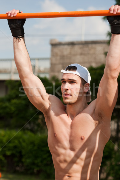 Outdoor workout in urban setting. Stock photo © lithian
