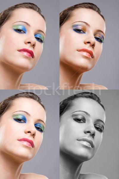 Сток-фото: брюнетка · красоту · макияж · выстрел · различный