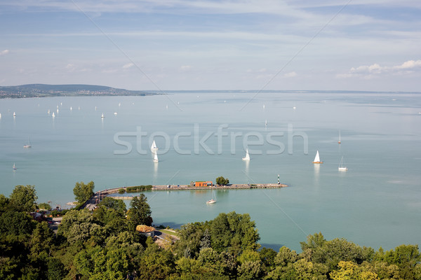 Lac Balaton belle vue ciel mer Photo stock © lithian