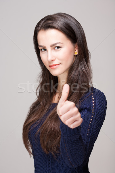 confident young brunette. Stock photo © lithian