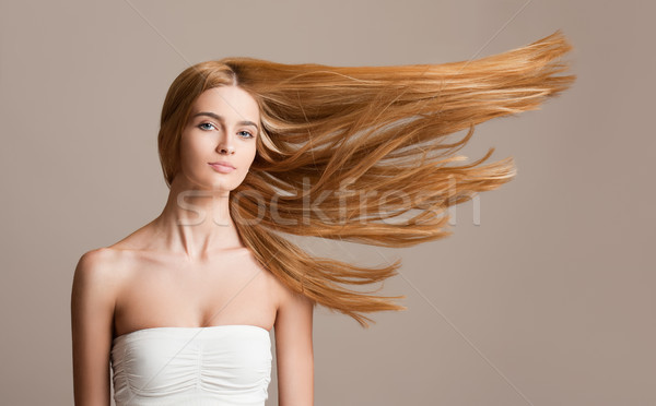 Incroyable blond cheveux portrait belle Photo stock © lithian