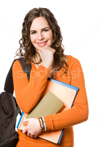 Young pretty student girl. Stock photo © lithian