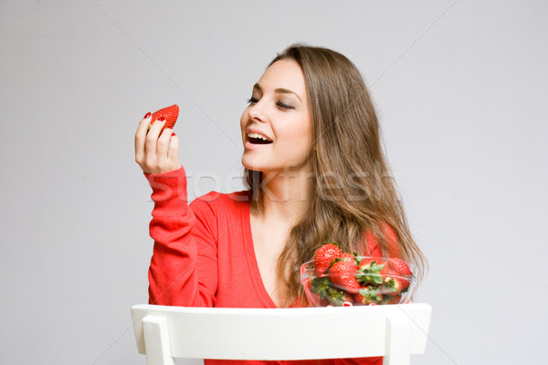 Strawberry admiration. Stock photo © lithian