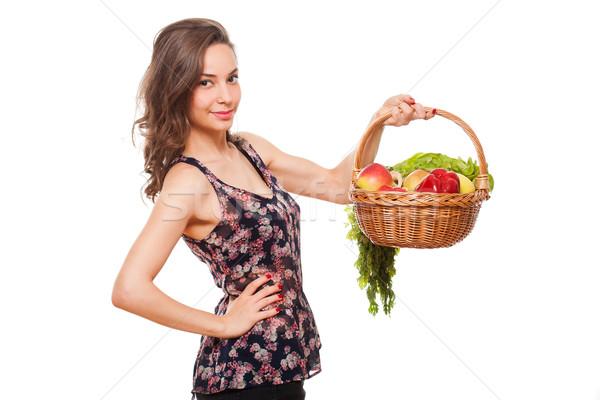 Сток-фото: купить · здорового · красивой · молодые · брюнетка · женщину