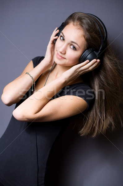Cute young music lover. Stock photo © lithian