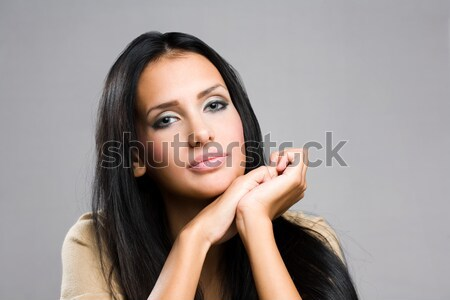 Pondering young beauty. Stock photo © lithian