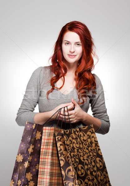 Fashionable young shopper. Stock photo © lithian