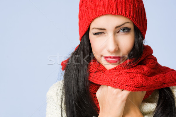 Winter fashion cutie. Stock photo © lithian