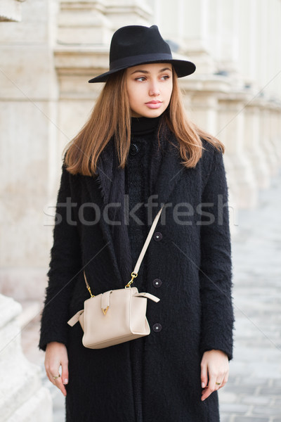 Winter fashion beauty. Stock photo © lithian