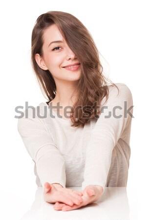 表現の ブルネット 美 肖像 ゴージャス 小さな ストックフォト © lithian