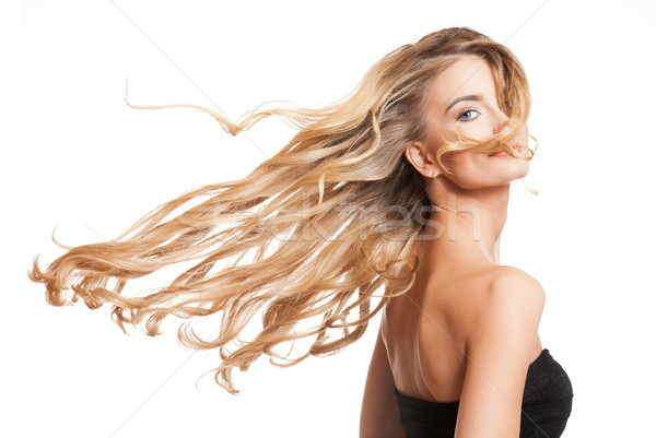 Blond beauty with healthy hair. Stock photo © lithian