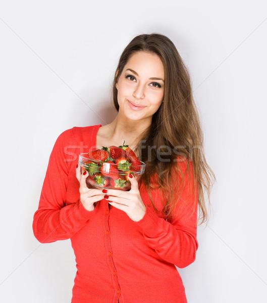Strawberry cutie. Stock photo © lithian