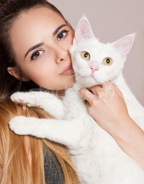 Her favorite pet. Stock photo © lithian
