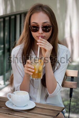 Ice coffee refreshment. Stock photo © lithian