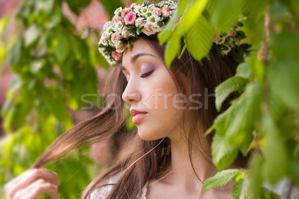 Magnifico primavera donna esterna natura Foto d'archivio © lithian
