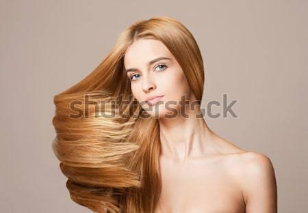 Foto d'archivio: Incredibile · capelli · ritratto · bella · giovani