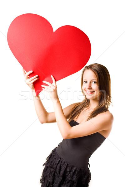 Amore magnifico giovani bruna in giro Foto d'archivio © lithian