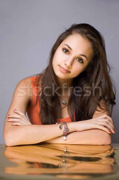 Golden girl. Stock photo © lithian